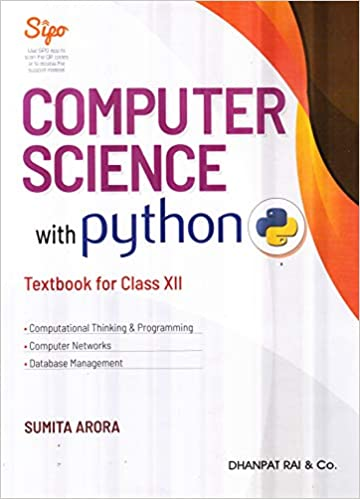 Computer Science with Python Textbook and Practical Book for Class 12 (Examination 2020-2021