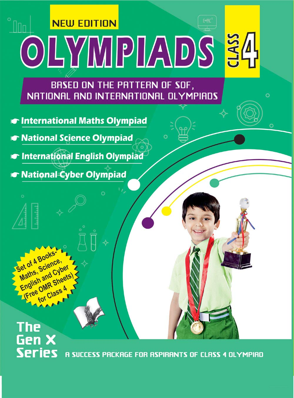 OLYMPIAD VALUE PACK CLASS 4 (4 BOOK SET, WITH CD)