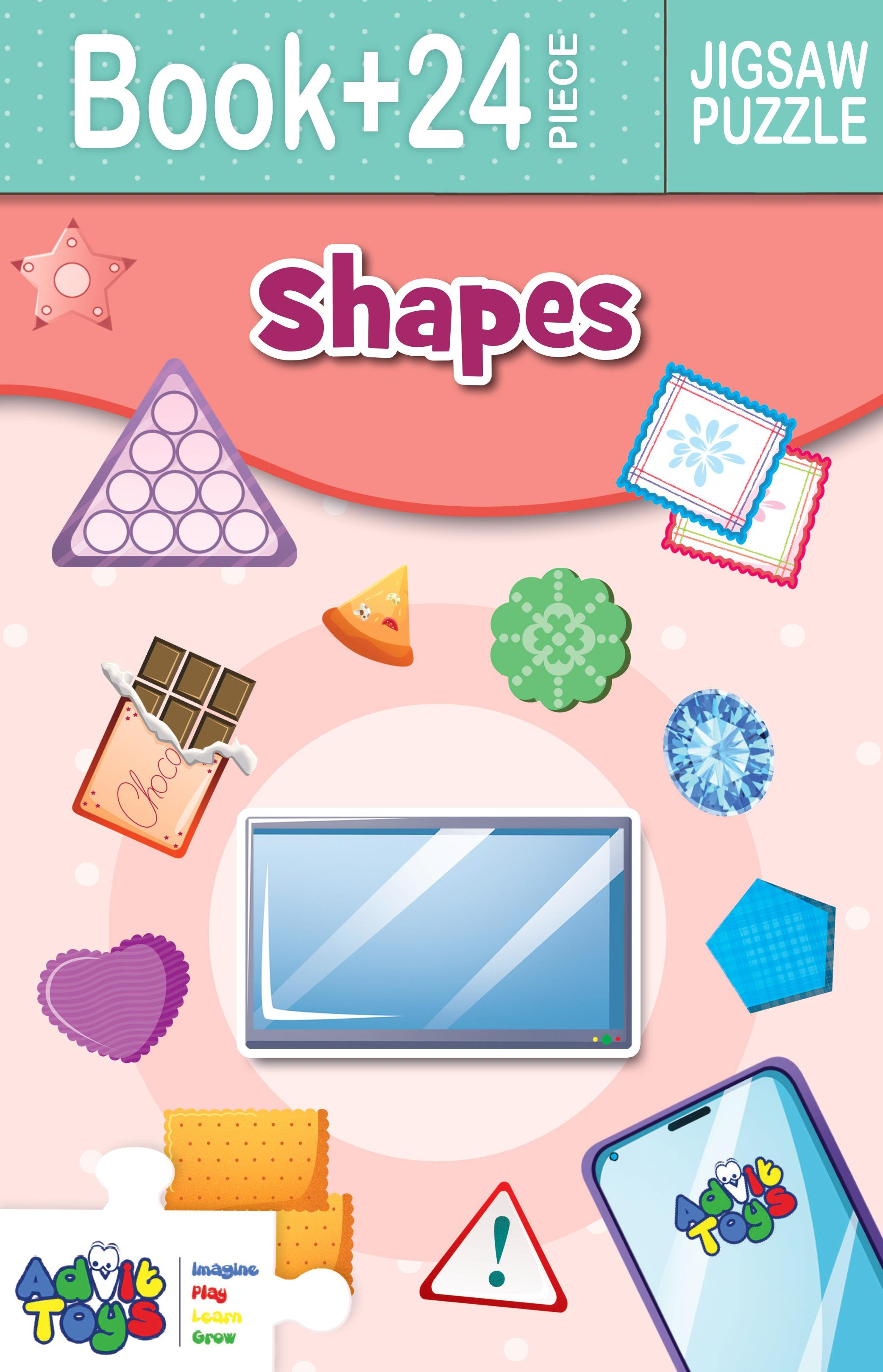 SHAPES JIGSAW PUZZLE ( BOOK + 24 PIECE )