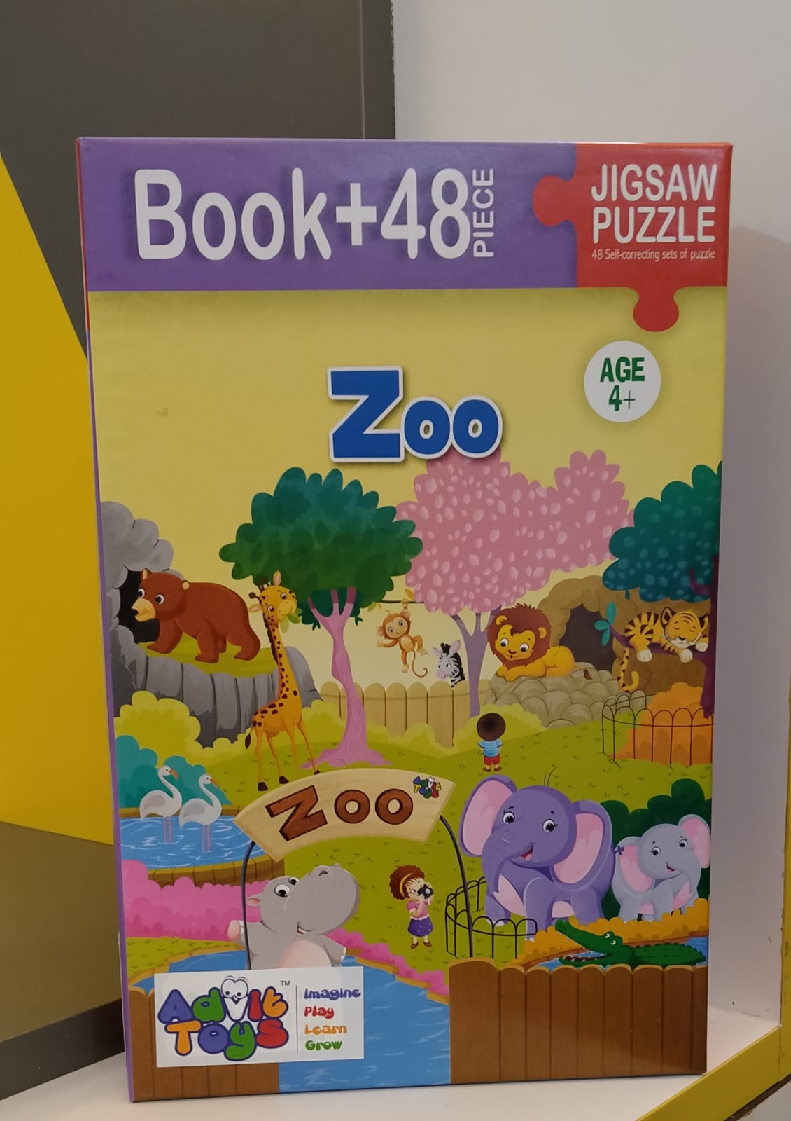ZOO JIGSAW PUZZLE ( BOOK + 48 PIECE AGE 4 + )