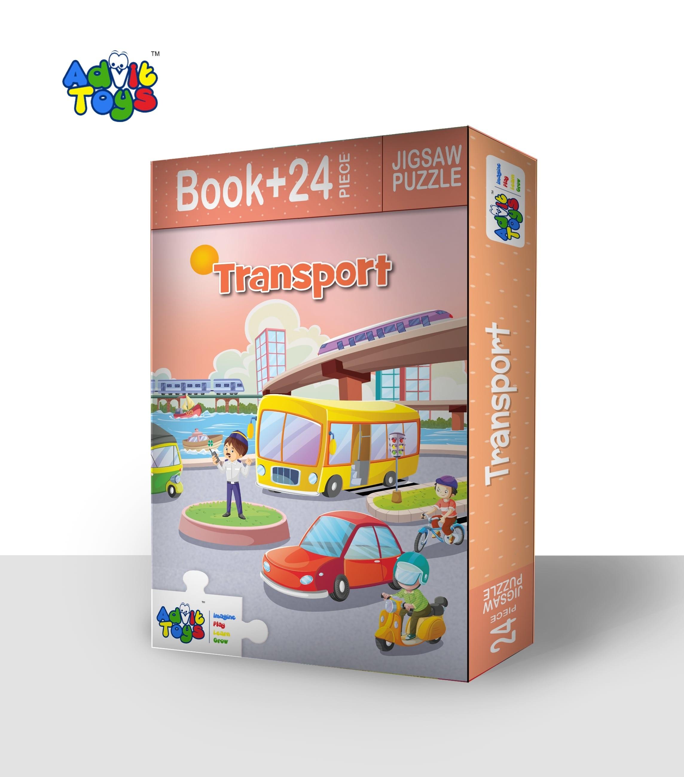 Transport Jigsaw Puzzle ( Book + 24 Piece )