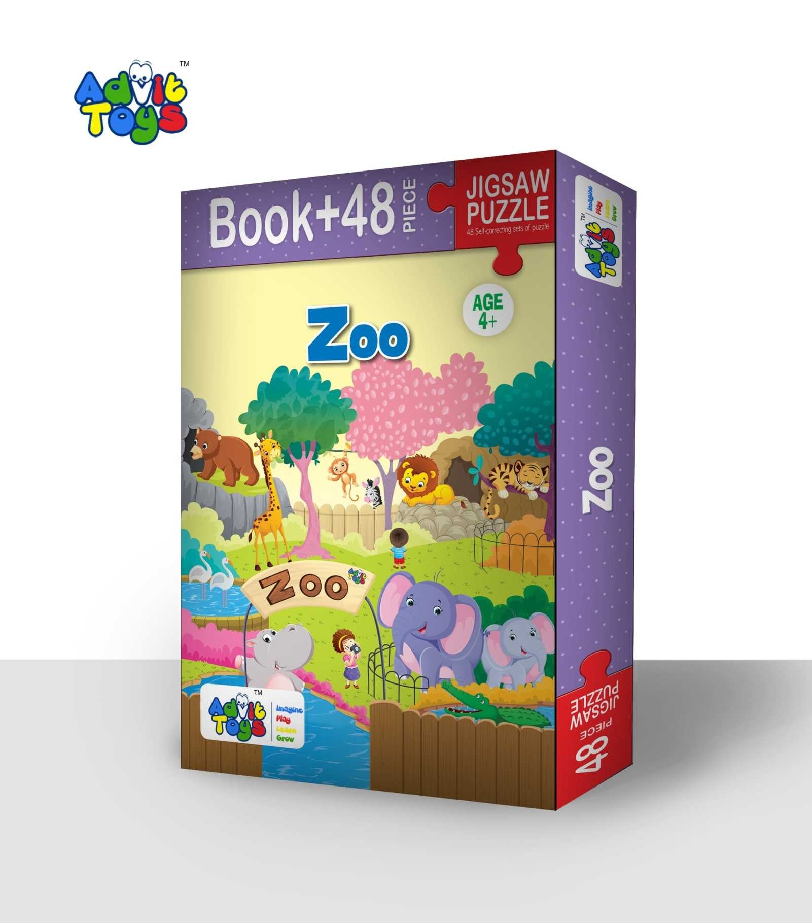 Zoo Jigsaw Puzzle ( Book + 48 Piece  -  Age 4 + )