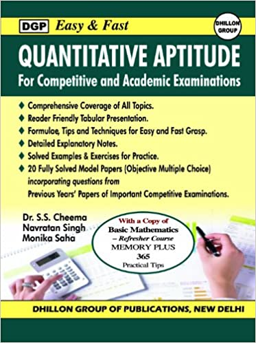 Easy & Fast Quantative Aptitude Tests (with a Free Copy of A Handbook of Mathematics Refresher 365)