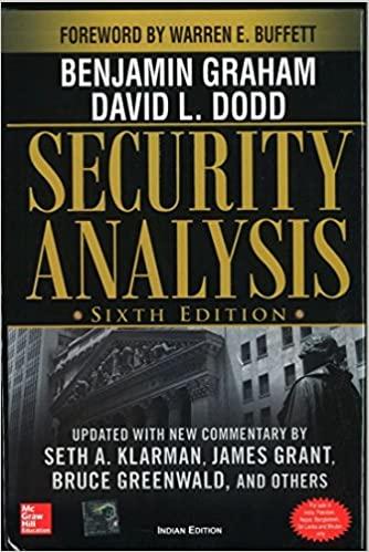 SECURITY ANALYSIS: SIXTH EDITION, FOREWORD BY WARREN BUFFETT`