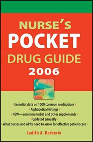 NURSE'S POCKET DRUG GUIDE 2006