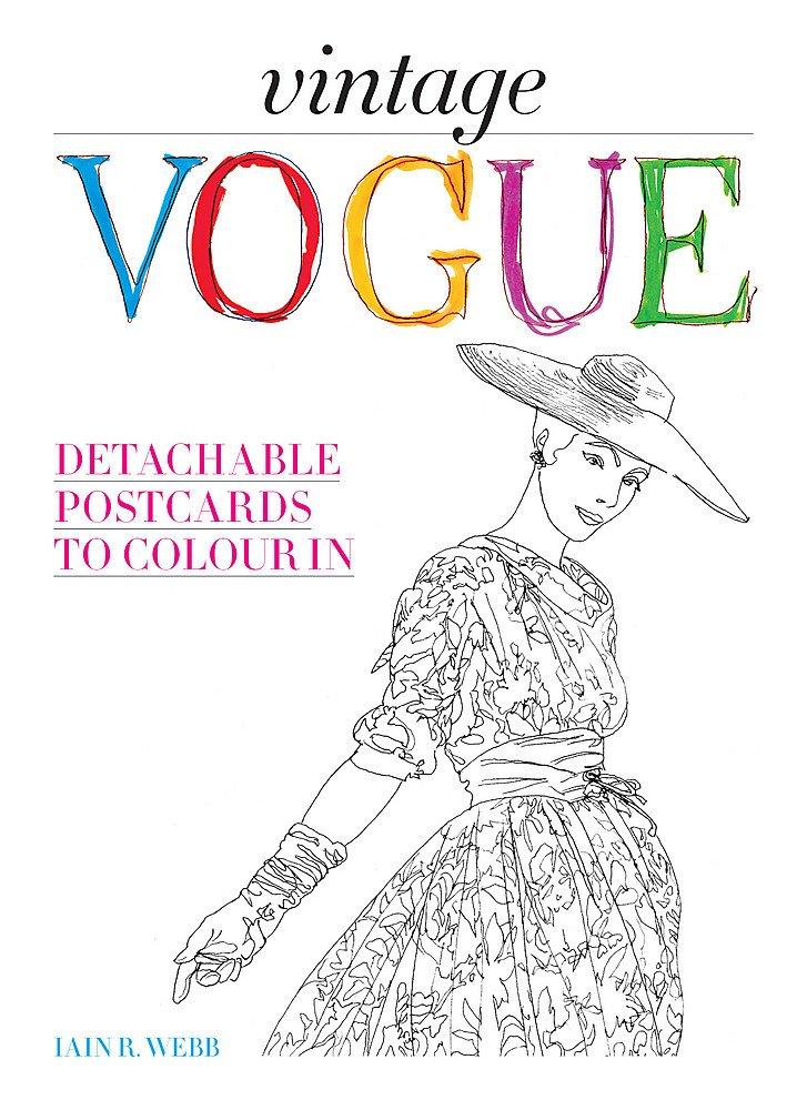 Vintage Vogue: Detachable postcards to colour in
