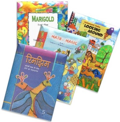 NCERT TEXTBOOK SET OF 4 BOOKS FOR CLASS - 5(MARIGOLD, RIMJHIM, MATH-MAGIC AND ENVIRONMENTAL SCIENCE-LOOKING AROUND)