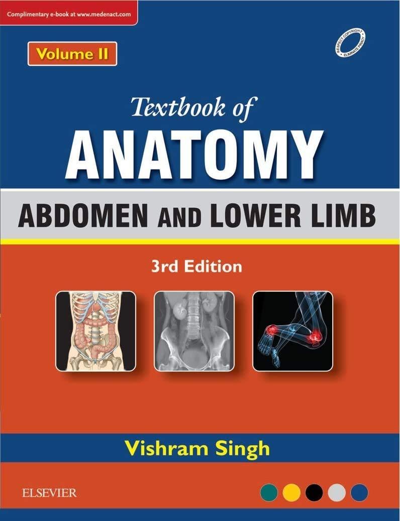 TEXTBOOK OF ANATOMY: ABDOMEN AND LOWER LIMB, VOL 2, 3RD EDITION