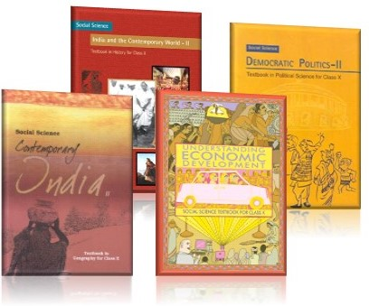 SOCIAL STUDIES TEXTBOOK COMBO PACK FOR CLASS - 10 (DEMOCRATIC POLITICS-II, INDIA AND THE CONTEMPORARY WORLD-II, UNDERSTANDING ECONOMIC DEVELOPMENT, CONTEMPORARY INDIA-II)