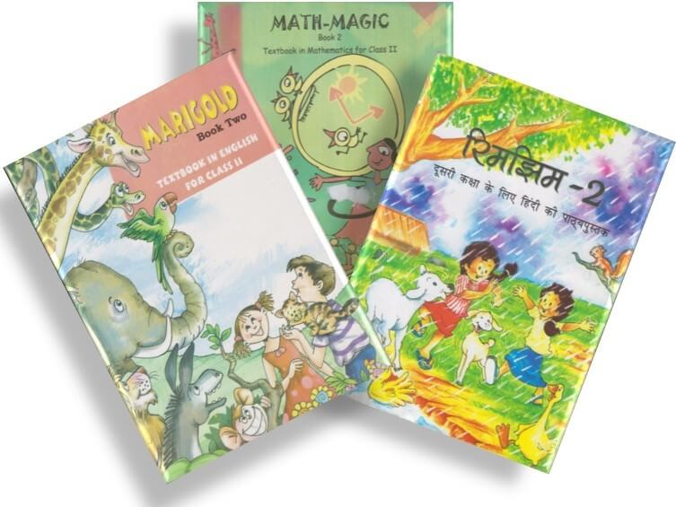 NCERT TEXTBOOK COMBO PACK OF CLASS 2 (MARIGOLD, MATH-MAGIC & RHIMJHIM)