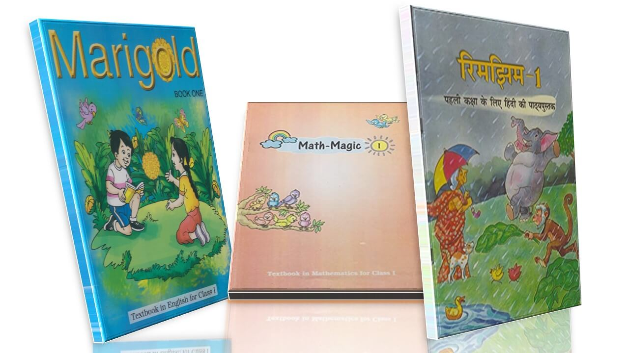 NCERT TEXTBOOK CLASS 1 COMBO PACK  (MARIGOLD, RIMJHIM, MATH-MAGIC)