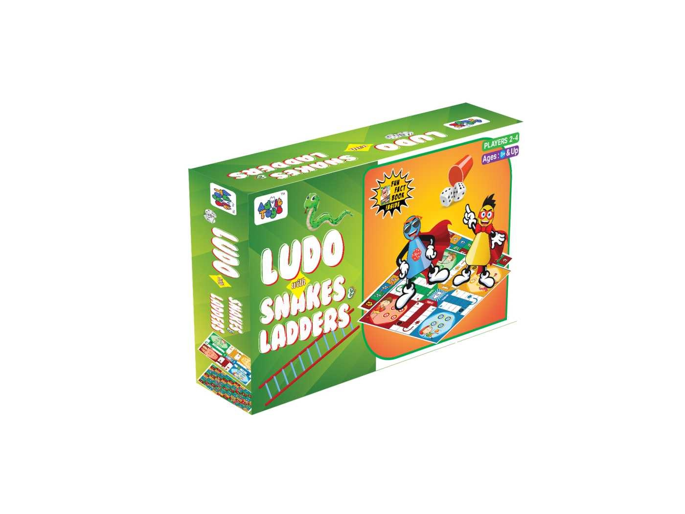 Ludo with Snakes & Ladders - (Age 3+ & Up)