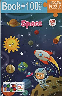 Space Jigsaw puzzle (Book + 100 Piece  Age 5 +)
