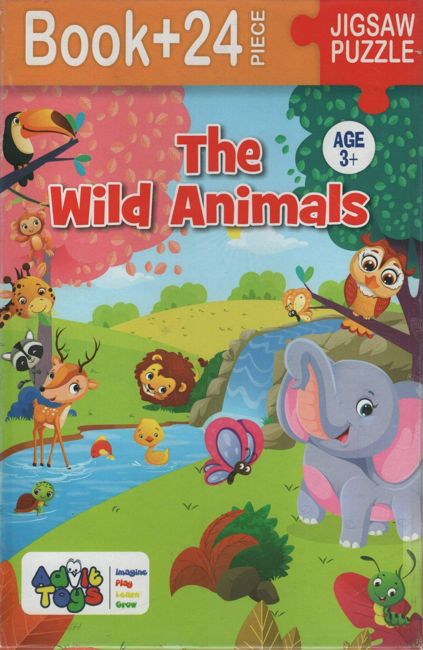 The Wild Animals - Jigsaw Puzzle (Book + 24 Piece - Age 3+)