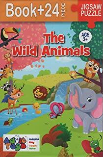 The Wild Animals - Jigsaw Puzzle (Book + 24 Piece - Age 3+)