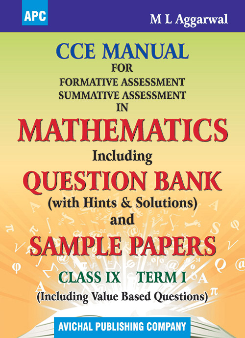 CCE MANUAL FOR FORMATIVE ASSESSMENT SUMMATIVE ASSESSMENT IN MATHEMATICS CLASS- IX (TERM I)