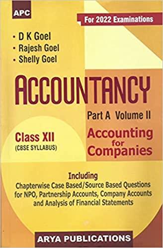 ACCOUNTANCY PART A CLASS XII