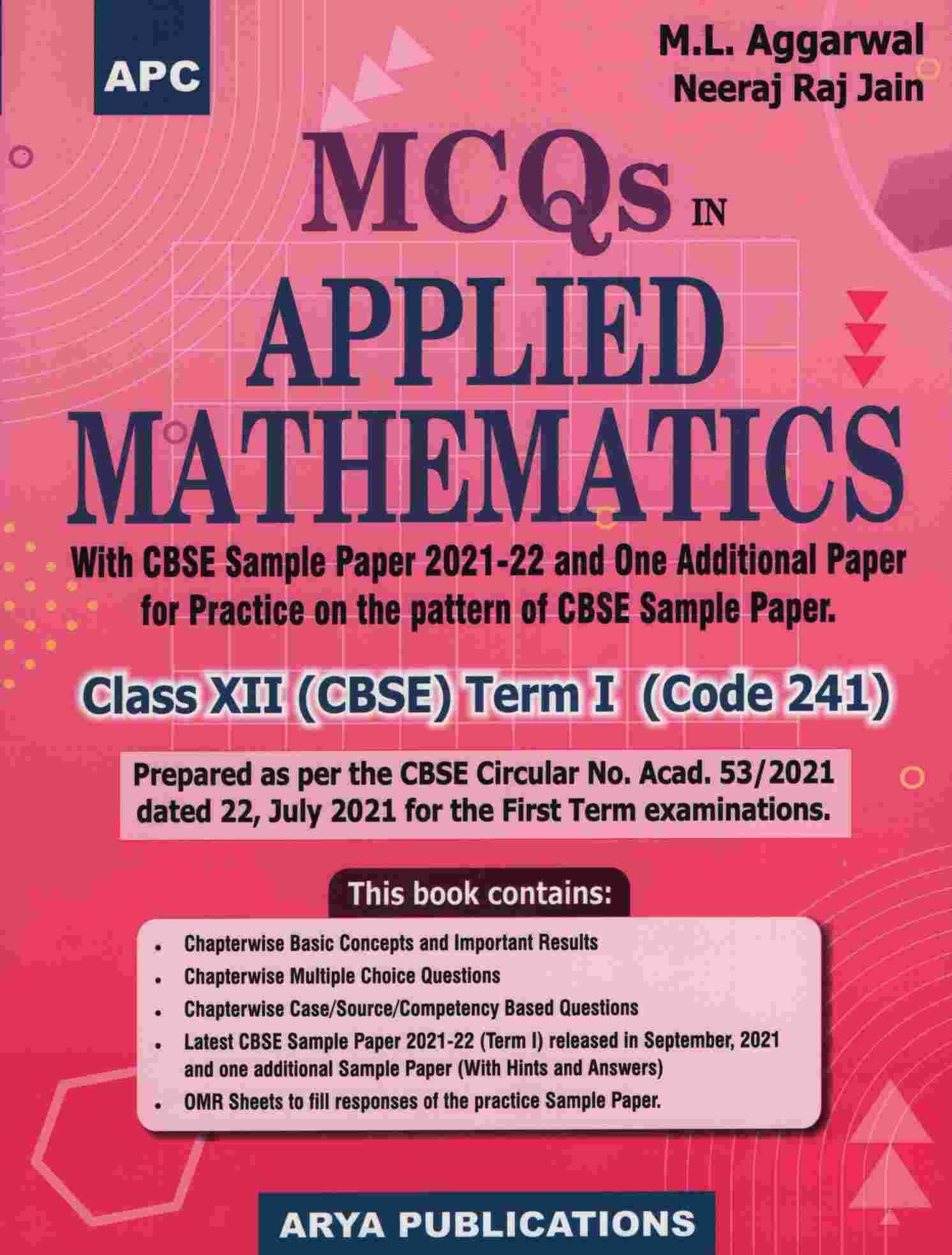 MCQs in Applied Mathematics Class XII (CBSE) Term -I