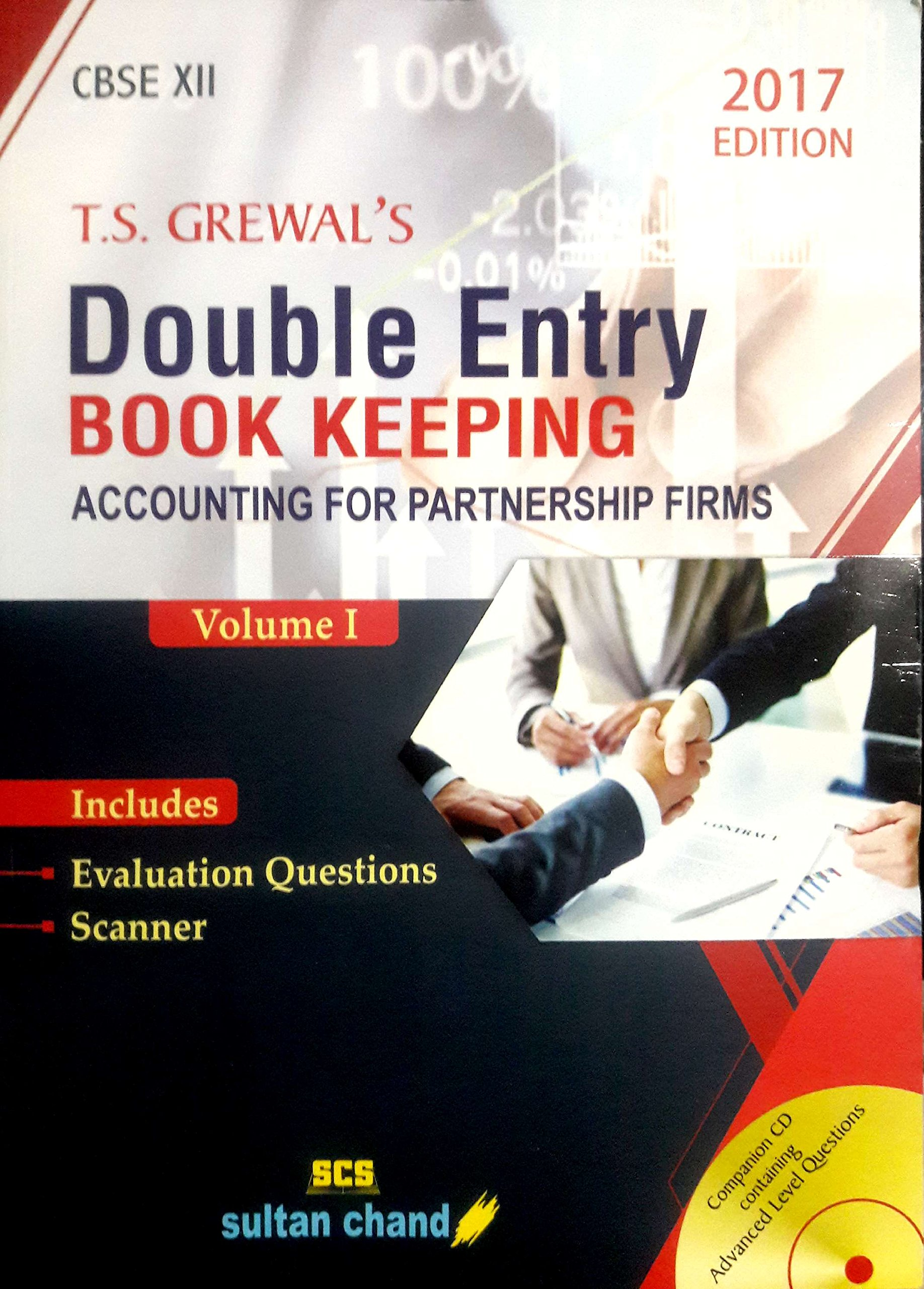 DOUBLE ENTRY BOOK KEEPING ACCOUNTING FOR PARTNERSHIP FIRMS VOLUME I
