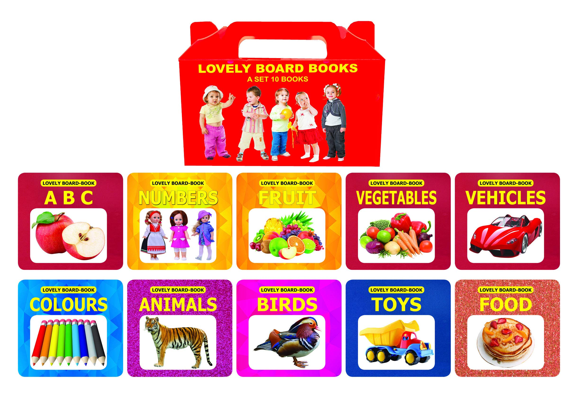 Lovely Board Books (A Set of 10 Books)