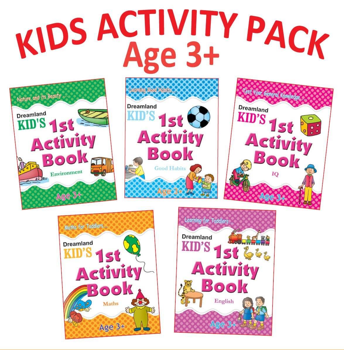 Kid's 1st Activity - Pack (5 Titles- English, Maths, Environment, Good Habits, Logical Reasoning)