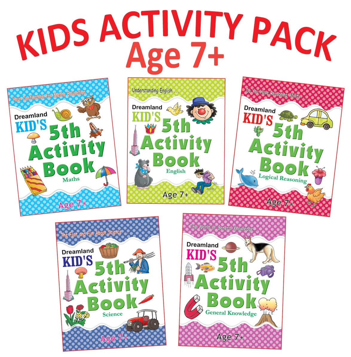 Kid's 5th Activity - Pack (5 Titles- English, Maths, Environment, General Awareness, Logic Reasoning)