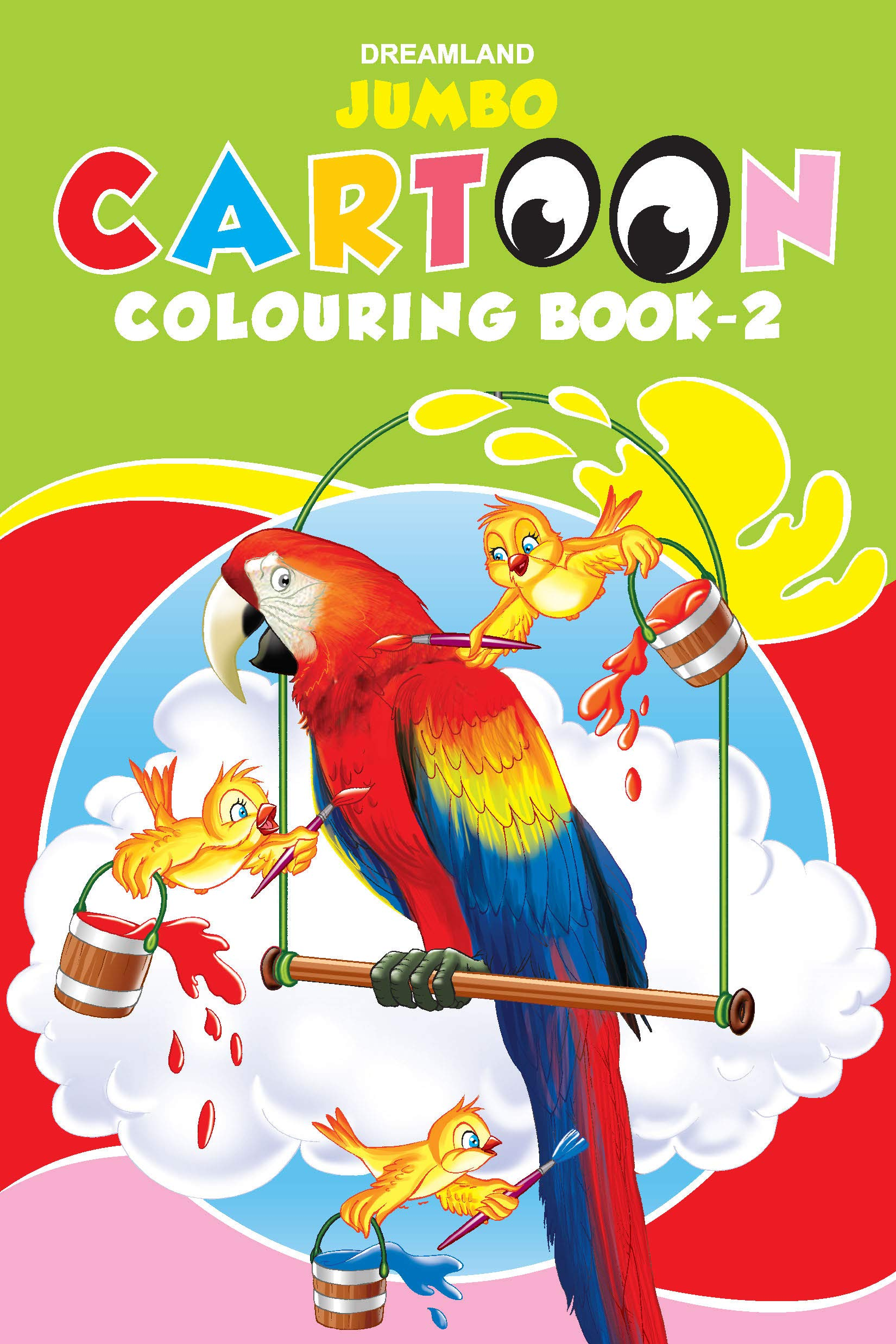 Jumbo Cartoon Colouring Book - 2