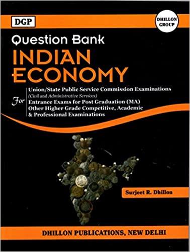 DGP Question Bank Indian Economy
