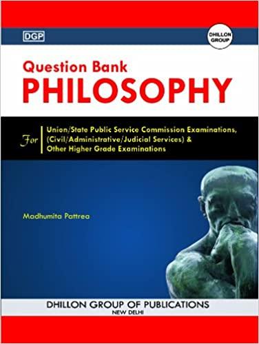 QUESTION BANK PHILOSOPHY