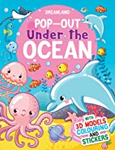 POP-OUT UNDER THE OCEAN- WITH 3D MODELS COLOURING AND STICKERS