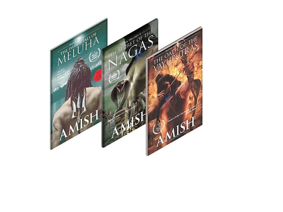 Secret of the Nagas + The Immortals of Meluha + The Oath of the Vayuputras (Shiva Triology Set of 3 books by Amish Tripathi)