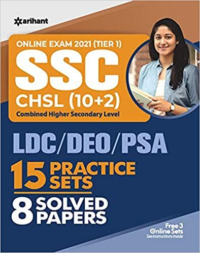 SSC CHSL Combined Higher Secondary Level 15 Practice Sets & Solved Papers 2021