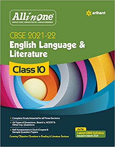 CBSE All In One English Language & Literature Class 10 for 2022 Exam