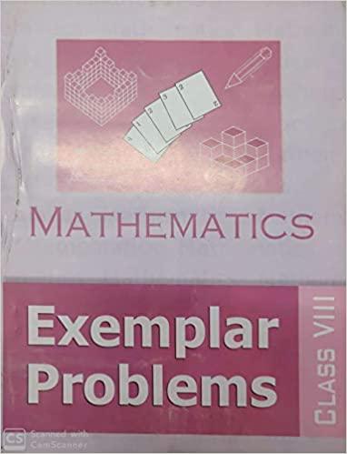 MATHEMATICS EXEMPLAR PROBLEMS FOR CLASS - 8