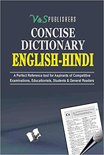 CONCISE ENGLISH HINDI DICTIONARY