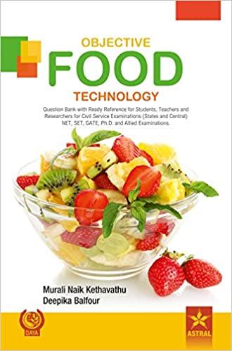 Objective Food Technology; JRF, SRF, ARS, NET