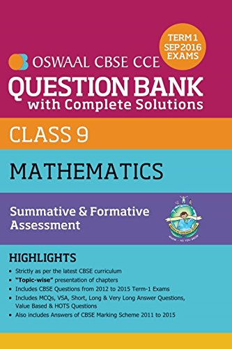 OSWAAL CBSE CCE QUESTION BANK WITH COMPLETE SOLUTIONS FOR CLASS 9  MATHEMATICS