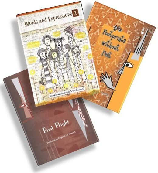 ENGLISH TEXTBOOK COMBO PACK FOR CLASS - 10 (FIRST FLIGHT, FOOTPRINTS WITHOUT FEET, WORD & EXPRESSION - II)