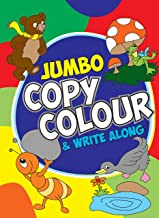 Colouring book for kids: Jumbo Copy Colour and Write Along Book