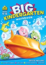Big Kindergarten  Activity Workbook Ages 5-6, Alphabets,Colours & Shapes, Numbers 0-12, Transition Maths,Reading Readiness,Answer Key and more