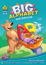 Big Alphabet Workbook Ages 3-5, Preschool to Kindergarten, Beginning Writing, Tracing, ABCs, Upper and Lowercase Aphabets, and More