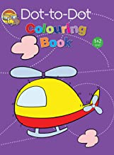 Colouring book: Dot-to-Dot Colouring Book for kids( Purple)