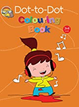 Colouring book: Dot-to-Dot Colouring Book for kids(Orange)