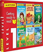 All set to Read- Level 1- Assisted reading with small sentences and pictures- READERS- 6 books in a  Red Box