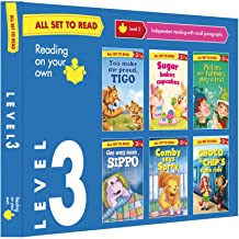 All set to Read- Readers Level 3- Independent reading with small paragraphs- READERS- 6 books in a  Blue Box