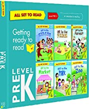 All set to Read- Level Pre-K- Introduction to Reading- READERS- 6 books in a  Blue Box