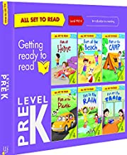 All set to Read- Level Pre-K- Introduction to Reading- READERS- 6 books in a  Purple Box