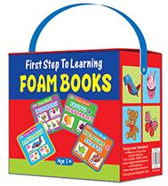 FIRST STEP TO LEARNING FOAM BOOKS (BOX OF 4 FOAM BOOKS)