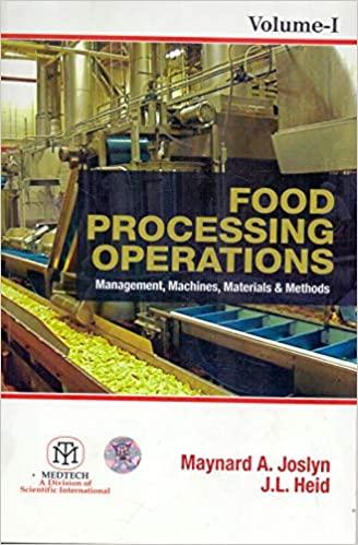 Food Processing Operations : Management, Machines, Materials & Methods Vol. 1