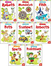 LET'S COLOUR COPY COLOURING BOXSET : PACK OF 8 BOOKS (TRANSPORT, PROFESSIONS, PETS, FISH, INSECTS, R